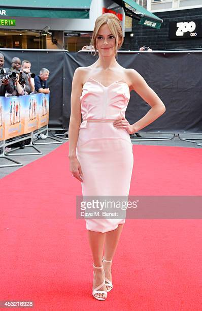 Hannah Tointon attends the World Premiere of 'The Inbetweeners 2' at Vue West End on August 5 2014 in London England