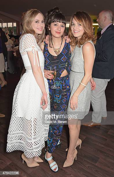 Hannah Tointon Sophie Roux and Kara Tointon attend day two of the Audi Polo Challenge at Coworth Park on May 31 2015 in London England