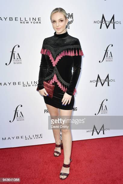 Hannah Viselli attends The Daily Front Row's 4th Annual Fashion Los Angeles Awards Arrivals at The Beverly Hills Hotel on April 8 2018 in Beverly...