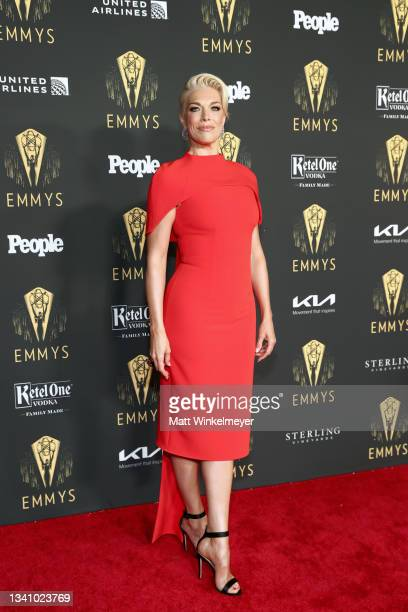 Hannah Waddingham attends the Television Academy's Reception to Honor 73rd Emmy Award Nominees at Television Academy on September 17, 2021 in Los...