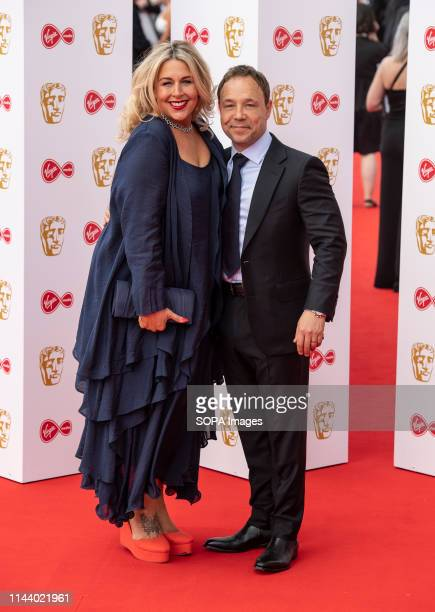 Hannah Walters and Stephen Graham are seen on the red carpet during the Virgin Media British Academy Television Awards at The Royal Festival Hall in...
