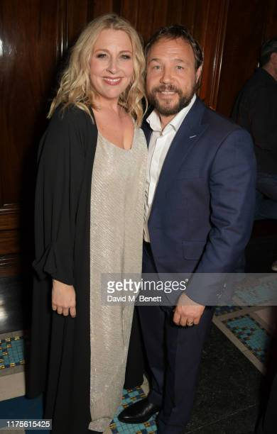 Hannah Walters and Stephen Graham attend The Irishman BFI London Film Festival closing night party hosted by NETFLIX at Freemasons Hall on October 13...