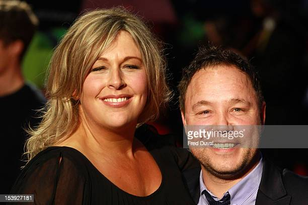 Hannah Walters and Stephen Graham attend the Premiere of 'Blood' during the 56th BFI London Film Festival at Odeon West End on October 11 2012 in...