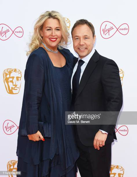Hannah Walters and Stephen Graham attend the Virgin Media British Academy Television Awards at The Royal Festival Hall on May 12 2019 in London...