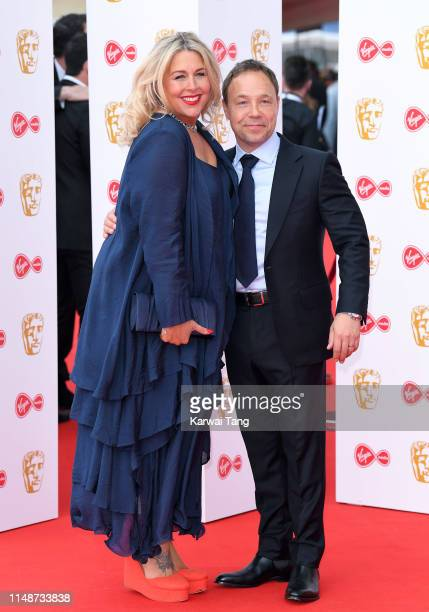 Hannah Walters and Stephen Graham attend the Virgin Media British Academy Television Awards 2019 at The Royal Festival Hall on May 12 2019 in London...