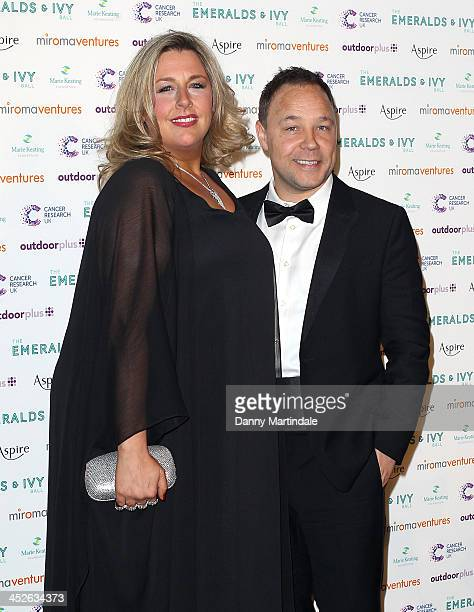 Hannah Walters and Stephen Graham attends The Emeralds And Ivy Ball at Old Billingsgate Market on November 30 2013 in London England
