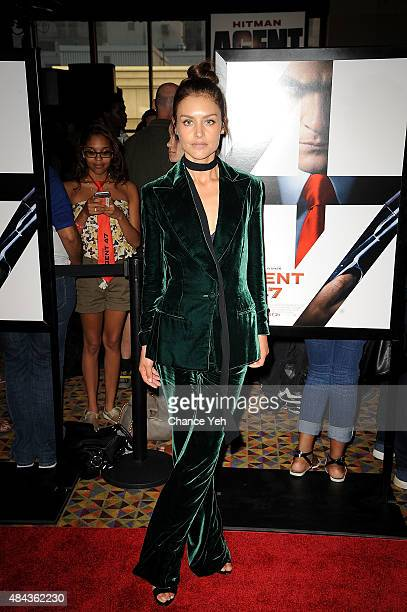 "Hannah Ware attends ""Hitman: Agent 47"" New York premiere at AMC Empire 25 theater on August 13, 2015 in New York City."