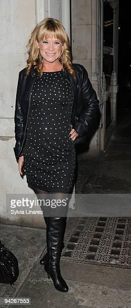 Hannah Waterman leaves the Noel Coward Theatre on December 10 2009 in London England