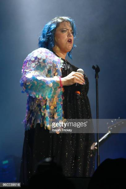 Hannah Williams of Hannah Williams The Affirmations performs during the 2018 Montreal International Jazz Festival at Rio Tinto Stage on July 4 2018...
