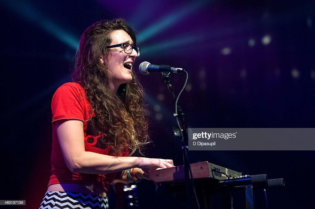 Hannah Winkler of Secret Someones performs at Highline Ballroom on January 16, 2014 in New York City.