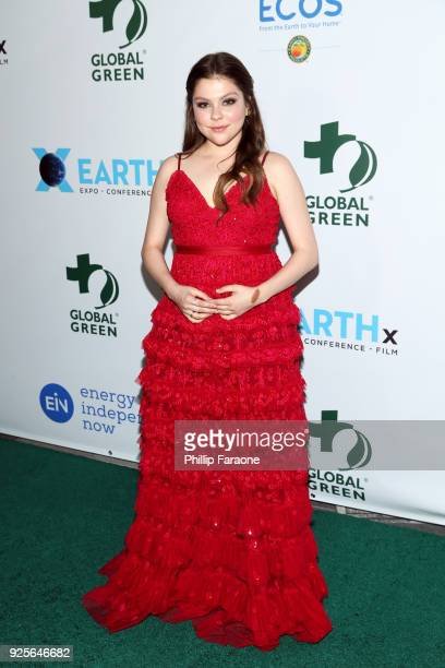 Hannah Zeile attends the 15th Annual Global Green PreOscar Gala on February 28 2018 in Los Angeles California