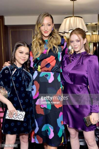 Hannah Zeile, Ava Michell and Larsen Thompson attend InStyle & Kate Spade New York Dinner Co-Hosted By Laura Brown & Nicola Glass at Sunset Tower on...