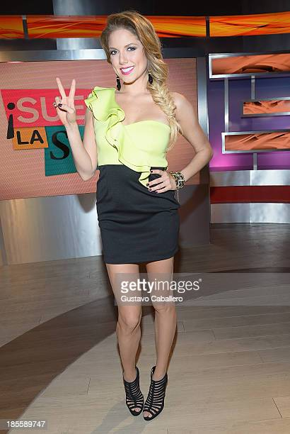 Hannaley attends the launch of the new Telemundo show 'Suelta La Sopa' on October 22 2013 in Miami Florida