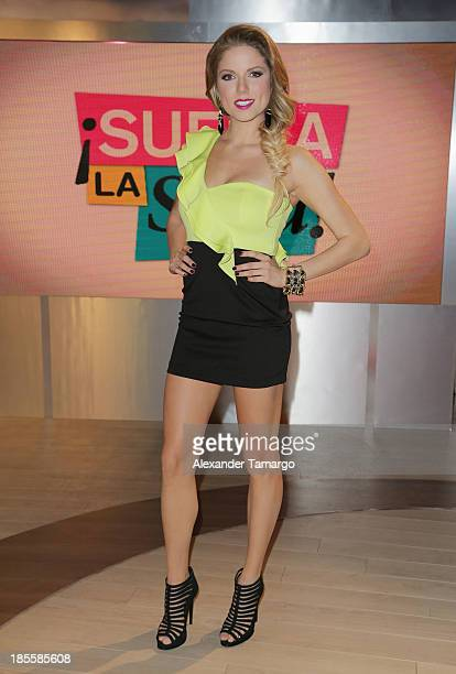Hannaley is seen on the set of the new Telemundo show Suelta La Sopa on October 22 2013 in Miami Florida