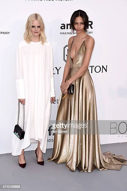 Hanne Gaby Odiele and Binx Walton attend amfAR's 22nd Cinema Against AIDS Gala Presented By Bold Films And Harry Winston at Hotel du CapEdenRoc on...