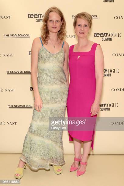 Hanne Gaby Odiele and Cynthia Nixon attend Teen Vogue Summit 2018: #TurnUp - Day 2 at The New School on June 2, 2018 in New York City.
