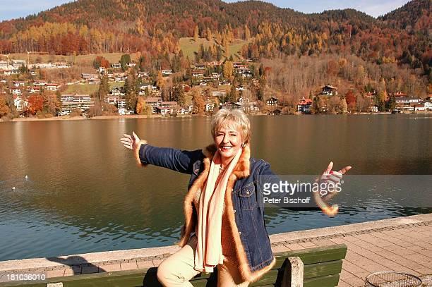 Hanne Haller RottachEgern Park Sängerin Steg Tegernsee See Gewässer Promis Prominente Prominenter