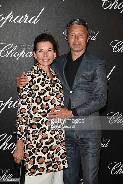 Hanne Jacobsen and Mads Mikkelsen attend the Chopard Trophy Ceremony during The 69th Annual Cannes Film Festival on May 12 2016 in Cannes