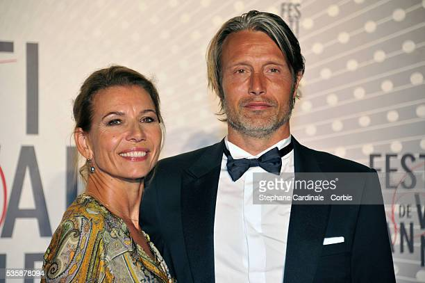 Hanne Jacobsen and Mads Mikkelsen attend the 'Palme D'Or Winners dinner' during the 66th Cannes International Film Festival