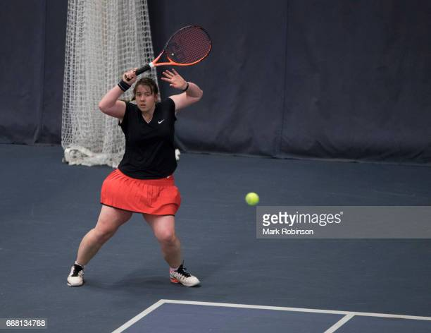 Hanne Lavreysen of Belgium during her Mixed Doubles Final match at the INAS Learning Disability International on April 13 2017 in Bolton England
