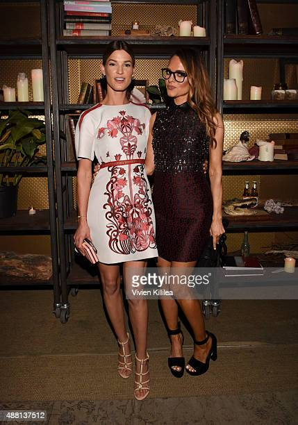 Hanneli Mustaparta and Founder Of Rodial Maria Hatzistefanis attend A Rodial Dinner For New York Fashion Week on September 13 2015 in New York City