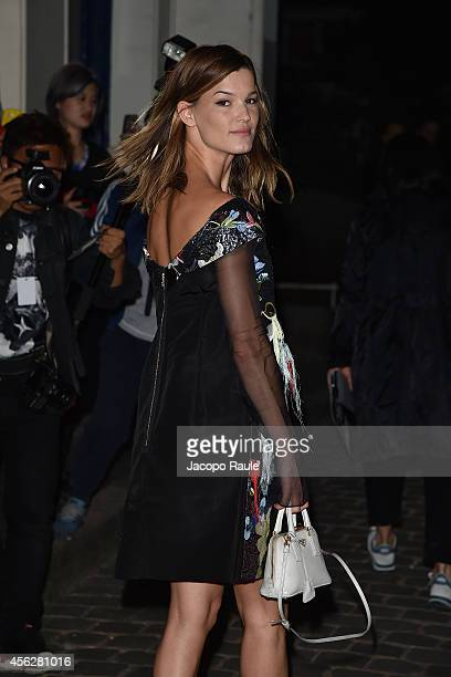 Hanneli Mustaparta arrives at Givenchy Fashion Show during Paris Fashion Week Womenswear SS 2015 on September 28 2014 in Paris France