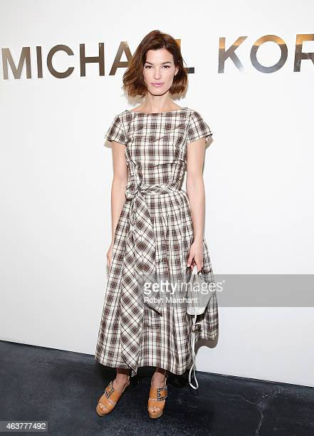 Hanneli Mustaparta attends Michael Kors at Spring Studios on February 18 2015 in New York City