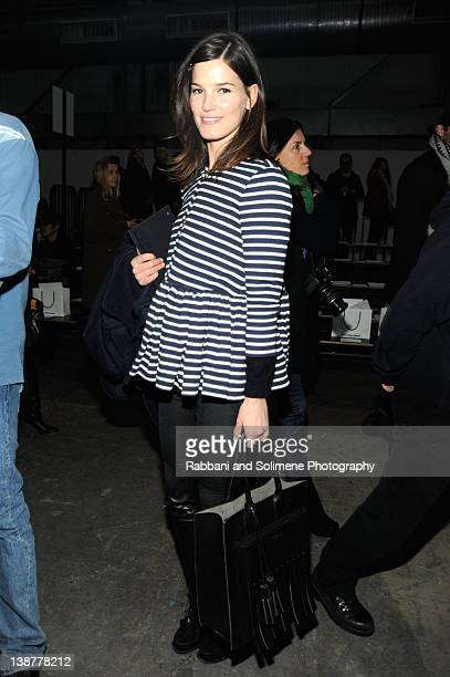 Hanneli Mustaparta attends the Alexander Wang Fall 2012 fashion show during MercedesBenz Fashion Week at Pier 94 on February 11 2012 in New York City
