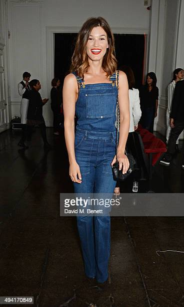 Hanneli Mustaparta attends the FRAME Denim dinner which she hosted at Il Bottaccio on May 28 2014 in London England