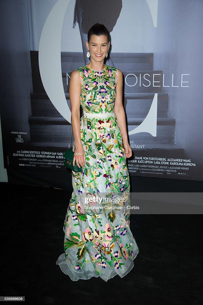Hanneli Mustaparta attends the 'Mademoiselle C' Premiere, as part of the Paris Fashion Week Womenswear Spring/Summer 2014, in Paris.