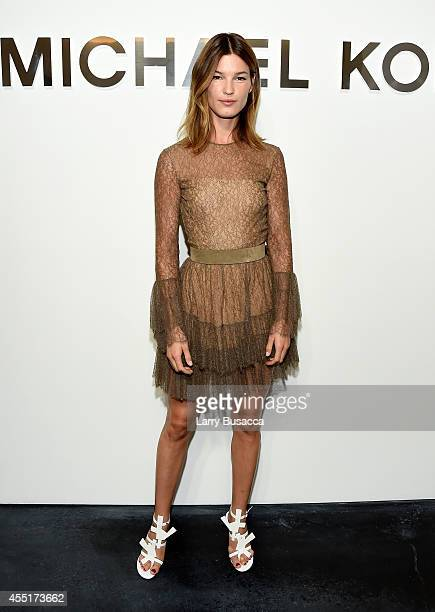 Hanneli Mustaparta attends the Michael Kors fashion show during MercedesBenz Fashion Week Spring 2015 at Spring Studios on September 10 2014 in New...