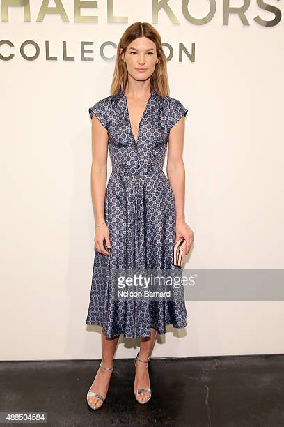 Hanneli Mustaparta attends the Michael Kors Spring 2016 Runway Show during New York Fashion Week The Shows at Spring Studios on September 16 2015 in...