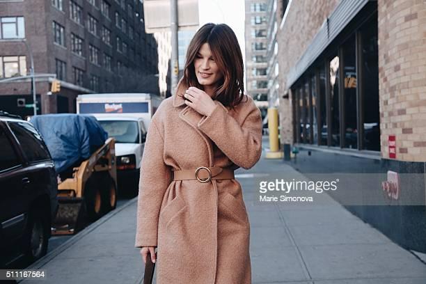 Hanneli Mustaparta seen before Ralph Lauren runway show during New York Fashion Week at Women's Fall/Winter 2016 on February 18 2016 in New York City