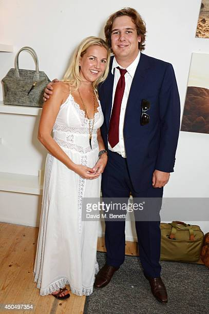 Hanneli Rupert and brother Anton Rupert attend the Okapi London launch and summer party on June 12 2014 in London England