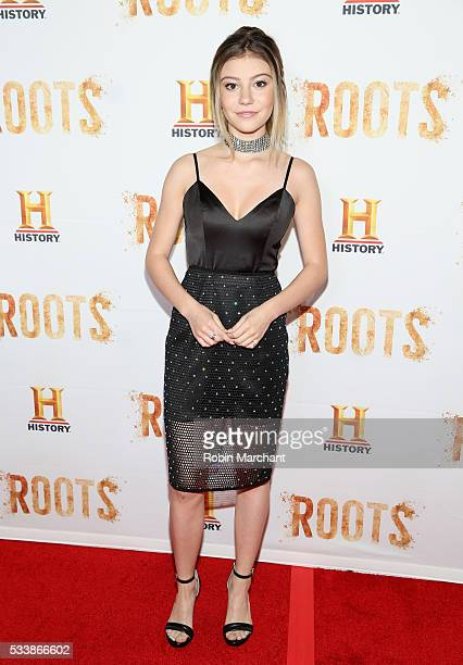 G Hannelius attends 'Roots' Night One Screening at Alice Tully Hall Lincoln Center on May 23 2016 in New York City