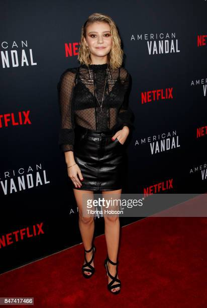 G Hannelius attends the premiere of Netflix's 'American Vandal' at ArcLight Hollywood on September 14 2017 in Hollywood California