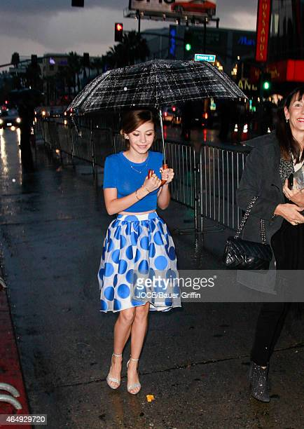 G Hannelius is seen in Hollywood on March 01 2015 in Los Angeles California