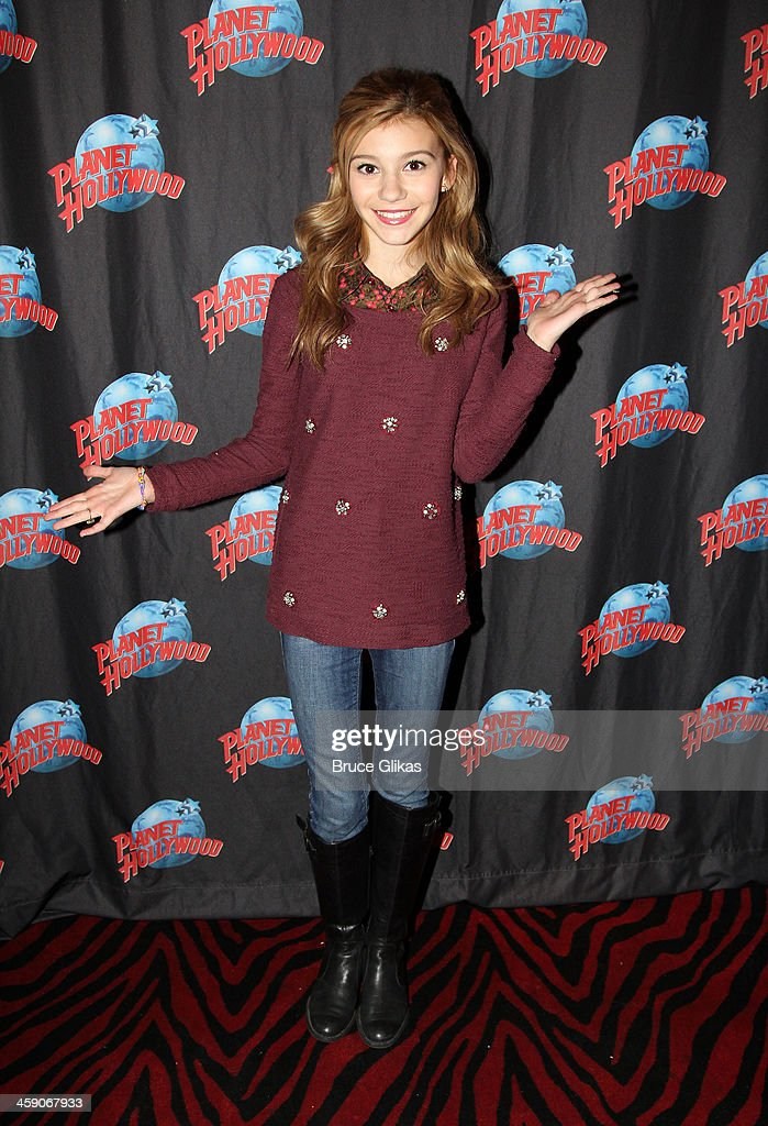 G. Hannelius of Disney's Dog with a Blog hosts a special holiday party for underprivileged children from WHEDco (a local outreach program in the South Bronx) at Planet Hollywood Times Square on December 22, 2013 in New York City.