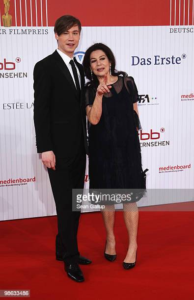 Hannelore Elsner and David Kross attend the German film award at Friedrichstadtpalast on April 23 2010 in Berlin Germany