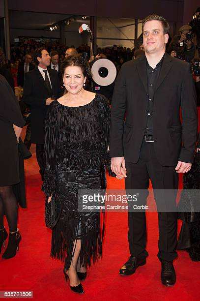 Hannelore Elsner and Dominik Elsner attend 'The Grand Budapest Hotel' Premiere and opening ceremony during the 64th Berlinale International Film...