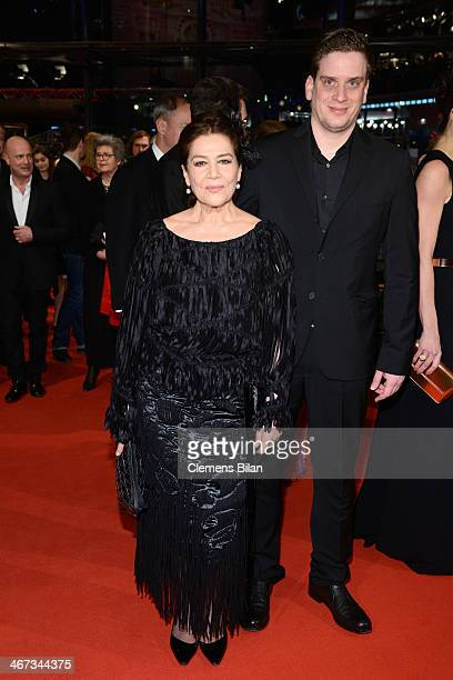 Hannelore Elsner and Dominik Elsner attends 'The Grand Budapest Hotel' Premiere and opening ceremony during the 64th Berlinale International Film...