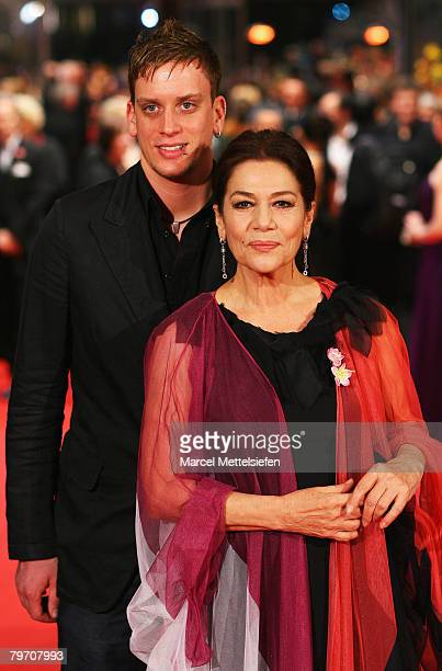 Hannelore Elsner and her son Dominik attend the 'Cherry Blossoms Hanami' Premiere as part of the 58th Berlinale Film Festival at the Berlinale Palast...