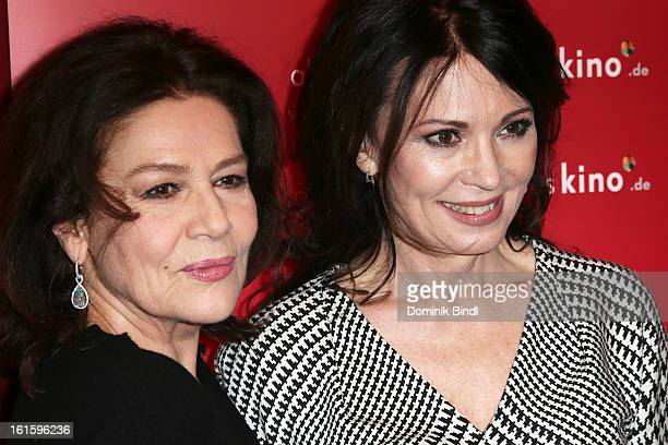 Hannelore Elsner and Iris Berben attend the Alles KinoDe Lounge during the 63rd Berlinale International Film Festival at the Pauly Saal on February...