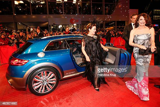 Hannelore Elsner and Iris Berben attend the 'Nobody Wants the Night' premiere during the 65th Berlinale International Film Festival on February 05...