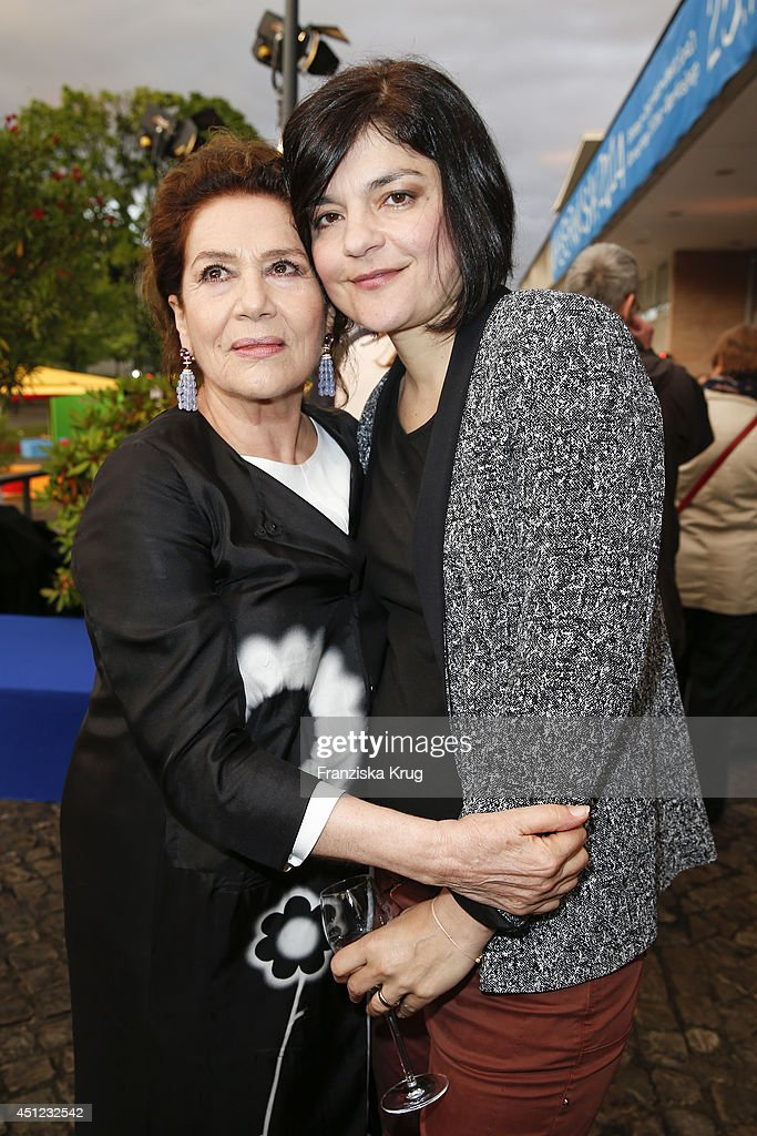 Hannelore Elsner and Jasmin Tabatabai attend the producer party 2014 (Produzentenfest) of the Alliance German Producer - Cinema And Television on June 25, 2014 in Berlin, Germany.