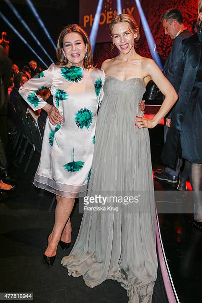 Hannelore Elsner and Julia Dietze attend the German Film Award 2015 Lola show at Messe Berlin on June 19 2015 in Berlin Germany
