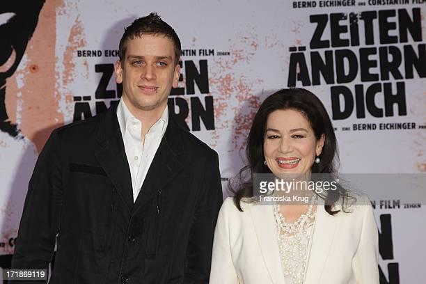 Hannelore Elsner And Son at the World Premiere Of Dominik movie Bushido in Berlin#39s Cinestar at Potsdamer Platz in Berlin