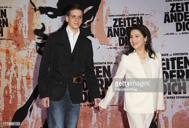 Hannelore Elsner And Son at the World Premiere Of Dominik movie Bushido in Berlin#39s Cinestar at Potsdamer Platz in Berlin
