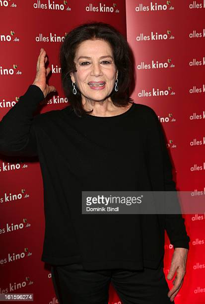 Hannelore Elsner attends the Alles KinoDe Lounge during the 63rd Berlinale International Film Festival at the Pauly Saal on February 12 2013 in...