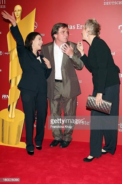 Hannelore Elsner Elmar Wepper und Regisseurin Doris Dörrie Bei Der Nominierungsveranstaltung Zum Deutschen Filmpreis Im Hotel Concorde In Berlin Am...